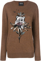 Markus Lupfer Nathalie bear and flower sweater