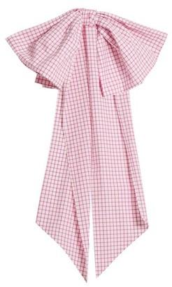 Dovima Paris - Romy Bow-embellished Gingham Cotton Belt - Pink White