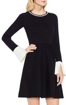 Vince Camuto Petite Women's Fit & Flare Sweater Dress