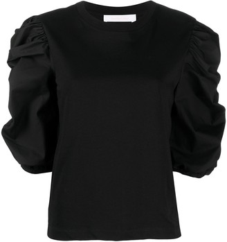 See by Chloe Puff-Gathered Sleeve T-Shirt
