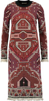 Tory Burch Embellished jacquard-knit wool-blend dress