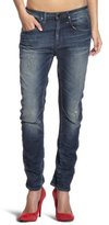 G Star G-Star Women's Arc 3D Tapered Comfort Jean in Med Aged Destroy