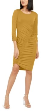 INC International Concepts Inc Smocked Asymmetrical Midi Dress, Created for Macy's