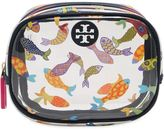 Tory Burch Fish Printed Round Pvc Cosmetic Case