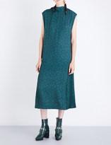 Toga Floral-print twill dress