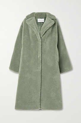 Stand Studio Maria Faux Shearling Coat - Green