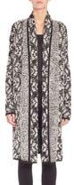 St. John Eyelash Knit Long Open-Front Cardigan