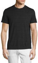 Theory Gaskell Striped Crewneck T-Shirt, Black Multi