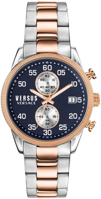 Versace Shoreditch Two-Tone Stainless Steel Bracelet Chronograph Watch