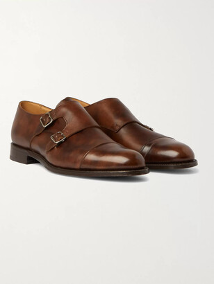 Tricker's Leavenworth Burnished-Leather Monk-Strap Shoes