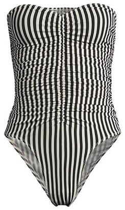Norma Kamali Striped Marissa One-Piece Swimsuit