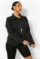 Thumbnail for your product : boohoo Zip Sleeve Denim Jacket
