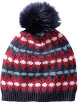 Joe Fresh Women's Faux Fur Pompom Hat, Navy (Size O/S)