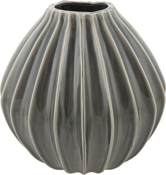 Broste Copenhagen - 'Wide' Ceramic Vase - Smoked Pearl - Large