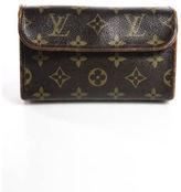 Louis Vuitton Brown Coated Canvas Gold Tone Florentine Waist Bag Handbag