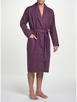John Lewis Pure Cotton Honeycomb Waffle Robe, Purple