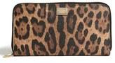 Dolce & Gabbana Women's Zip Continental Wallet - Brown