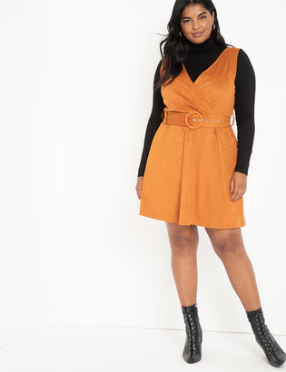 ELOQUII Suede Jumper Dress