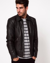 Nudie Jeans Jonny Biker Leather Jacket