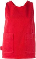 MM6 MAISON MARGIELA front pocket top - women - Cotton - 42
