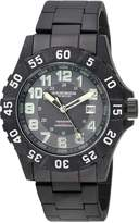 Akribos XXIV Men's AK794WT Analog Display Japanese Quartz Black Watch