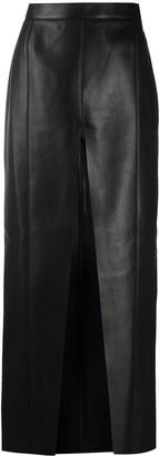 Nanushka Arlynn front slit long skirt