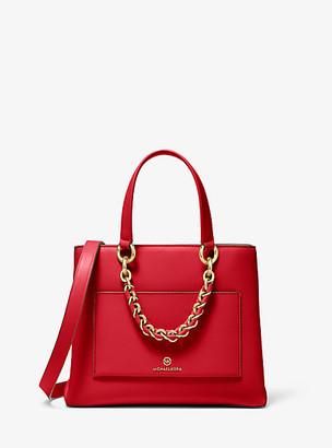 Michael Kors Cece Small Leather Chain Messenger Bag