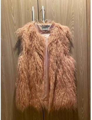 Asos Pink Faux fur Jacket for Women