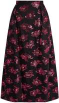 THE VAMPIRE'S WIFE Bell floral fil-coupé midi skirt