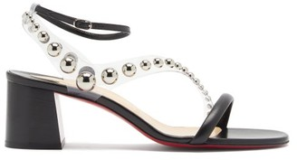 Christian Louboutin Corinne 55 Pvc-strap Leather Sandals - Black