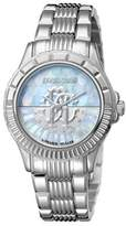 Roberto Cavalli Metal Bracelet Watch With Mother Of Pearl Dial.