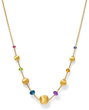 Marco Bicego 18K Yellow Gold Africa Color Multi Gemstone Bead Necklace, 16