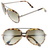 Tom Ford Women's Andy 58Mm Aviator Sunglasses - Rose Gold/ Transparent Honey