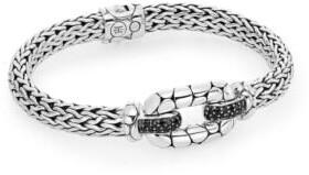 John Hardy Kali Black Sapphire & Sterling Silver Station Bracelet
