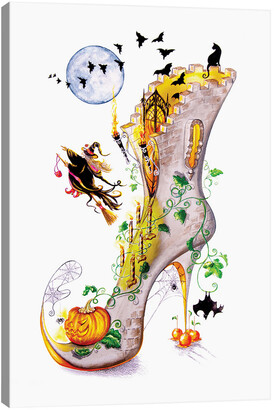 iCanvas All Hallows Party By Sally King Design Wall Art