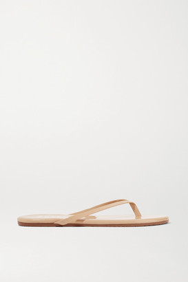 TKEES Foundations Gloss Patent-leather Flip Flops - Beige