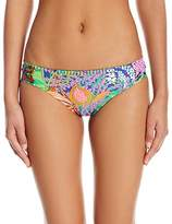 Trina Turk Women's Tropic Escape Shirred Side Hipster Bikini Bottom
