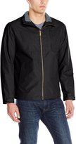 London Fog Men's Hayes Moto Dobby Hipster Jacket