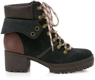 See by Chloe Eileen Nubuck & Leather Hiking Boots