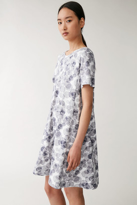 Cos Printed Cotton A-Line Dress