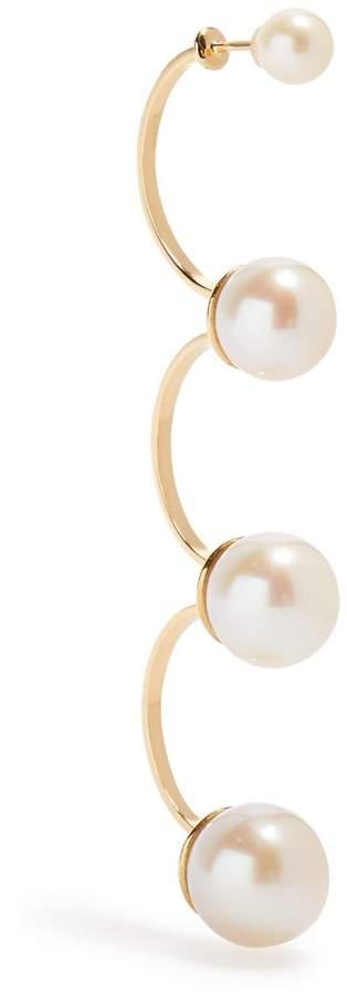 Delfina Delettrez Pearl & yellow-gold single earring