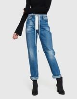 Off-White Zipped 5 Pocket Jean