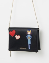 Love Moschino Folded Crossbody Bag with Heart Detail