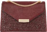 Dune Eddison glitter-detail leather shoulder bag