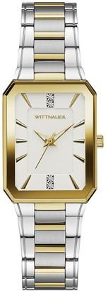 Wittnauer Women's Two-Tone Rectangular DiamondAccent Watch