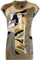 Dolce & Gabbana lurex intarsia knit sweater vest