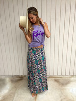 Tysa Wrap Skirt In Purple Rain