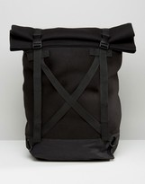 Asos Roll Top Backpack With Straps In Scuba