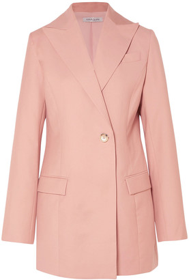 ANNA QUAN Sienna Double-breasted Twill Blazer
