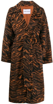 Stand Studio Oversize Tiger Pattern Coat